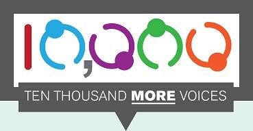 10000 More Voices Logo